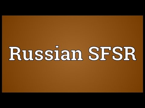 Russian SFSR Meaning
