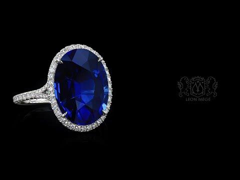 Halo Sapphire Wedding Ring