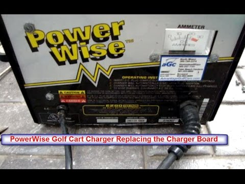 REPAIR POWERWISE GOLF CART CHARGER - REPLACING CHARGER BOARD RELAY
