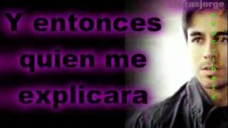 Enrique iglesias- Tu y  Yo letra