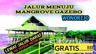 rute/jalur/jalan menuju eko wisata mangrove gazebo wonorejo surabaya