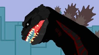 Godzilla vs Zilla and Dinosaurs cartoons battles compilation 2018 - DinoMania