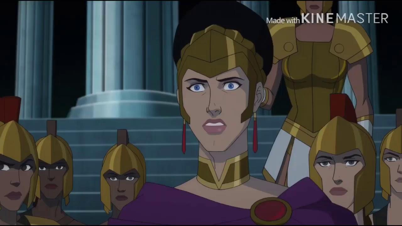 Download Wonder Woman  Bloodlines   Medusa Turns Steve Into a Stone Statue   Movie Clip