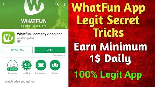 Whatfun Secret Auto Earning Trick | Earn 1$ minimum daily | GenTrick BD