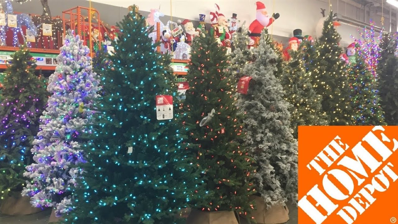 Home Depot Christmas Trees Decorations