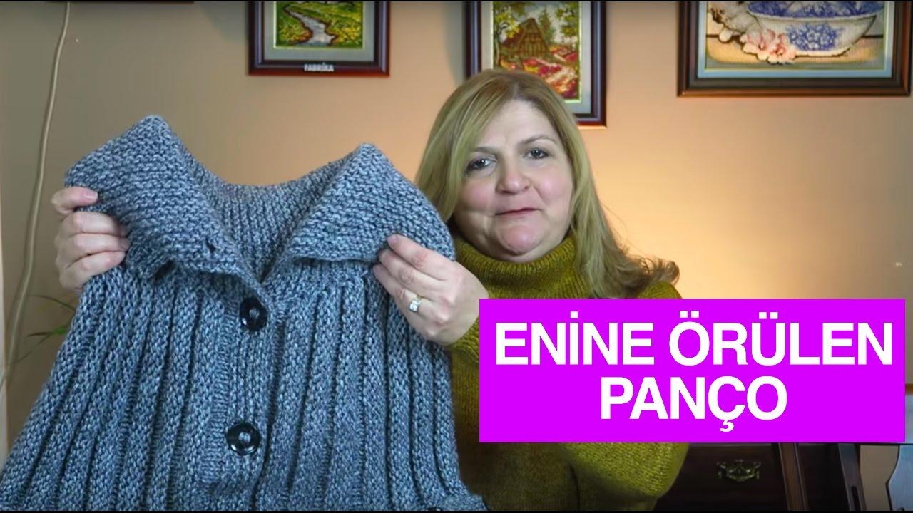 Tığ İşi Yakalı Panço Yapılışı Açıklamalı Videolu