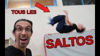 TOUS LES SALTO - ALL BACKFLIP - Wallflip, palmflip, ...