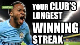 Your Club's Longest Winning Streak | Every Premier League Club