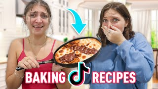 Trying YOUR TikTok Baking Recipes with Rylan