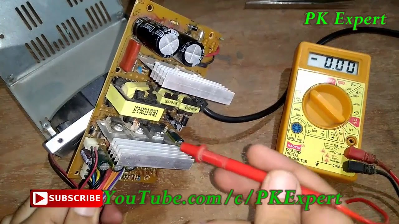 SMPS Repair in Hindi, SMPS POWER SUPPLY REPAIR Practical output ...
