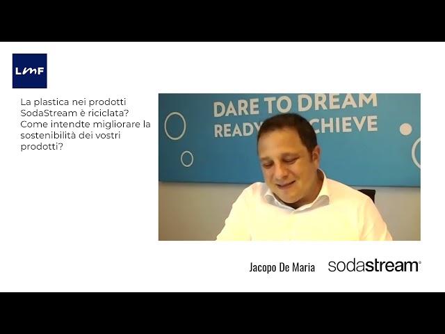 Come si migliora la sostenibilità dei prodotti - Jacopo De Maria (SodaStream)