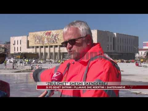"""""""Zbulohet"""" sheshi Skënderbej, vijojnë punimet - News, Lajme - Vizion Plus"""