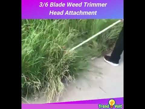 3 & 6 Blade Steel Lawn Mower Grass Weed Trimmer Head Attachment