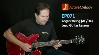 Angus Young (AC/DC) style guitar lesson – lead guitar – ep071