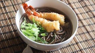 Tempura Soba Recipe - Japanese Cooking 101