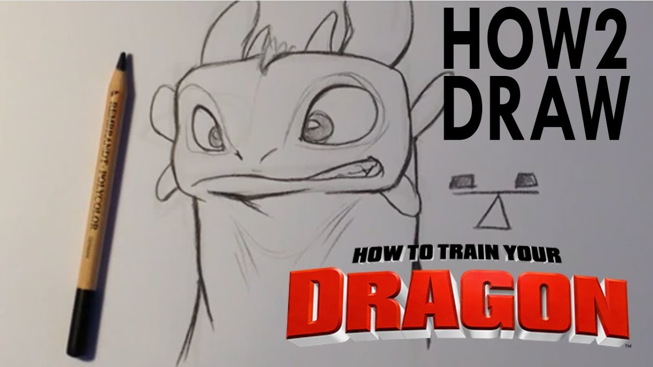 How To Draw Toothless From How To Train Your Dragon Easy Things To