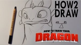 How to Draw Toothless from How To Train Your Dragon - Easy Things To Draw