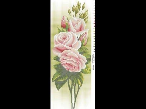 """Вышивка """"Свежие розы"""" Отчет 1."""