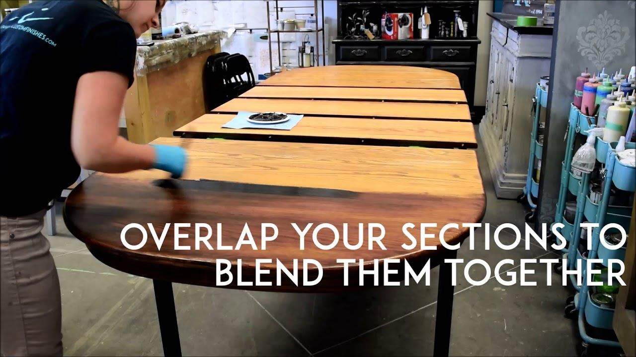 Easy How To Refinish Kitchen Table with Gel Stain