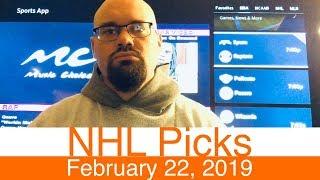 NHL Picks (2-22-19) | Hockey Sports Betting Expert Predictions Video | Vegas | February 22, 2019