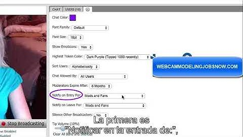Chaturbate chat settings guide ENG with Spanish subs