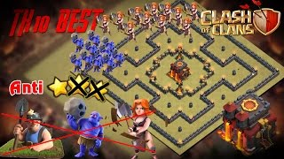 [Clash of Clans] TH10 Base War Defense Bowler - Valkyrie - Miner Anti 3 Star + Review