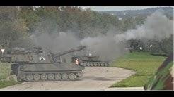 Gefechtsübung Panzer M-109 (Panzerhaubitze) mit scharfem Schuss - real tank shot