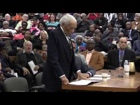 S.C. Chief Justice Ernest Finney speaks at Friendship Nine hearing