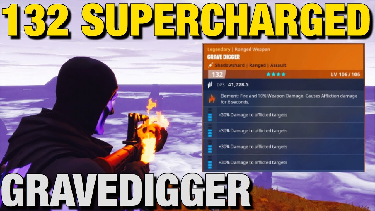 NEW 132 *SUPERCHARGED* Gravedigger Already Duplicated... Fortnite Save The World