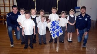 CHRISTMAS COUNTDOWN: Wigan Athletic Christmas tree painting at All Saints
