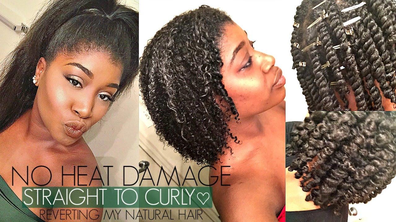 No Heat Hair Styles: Reverting My Straight Natural Hair