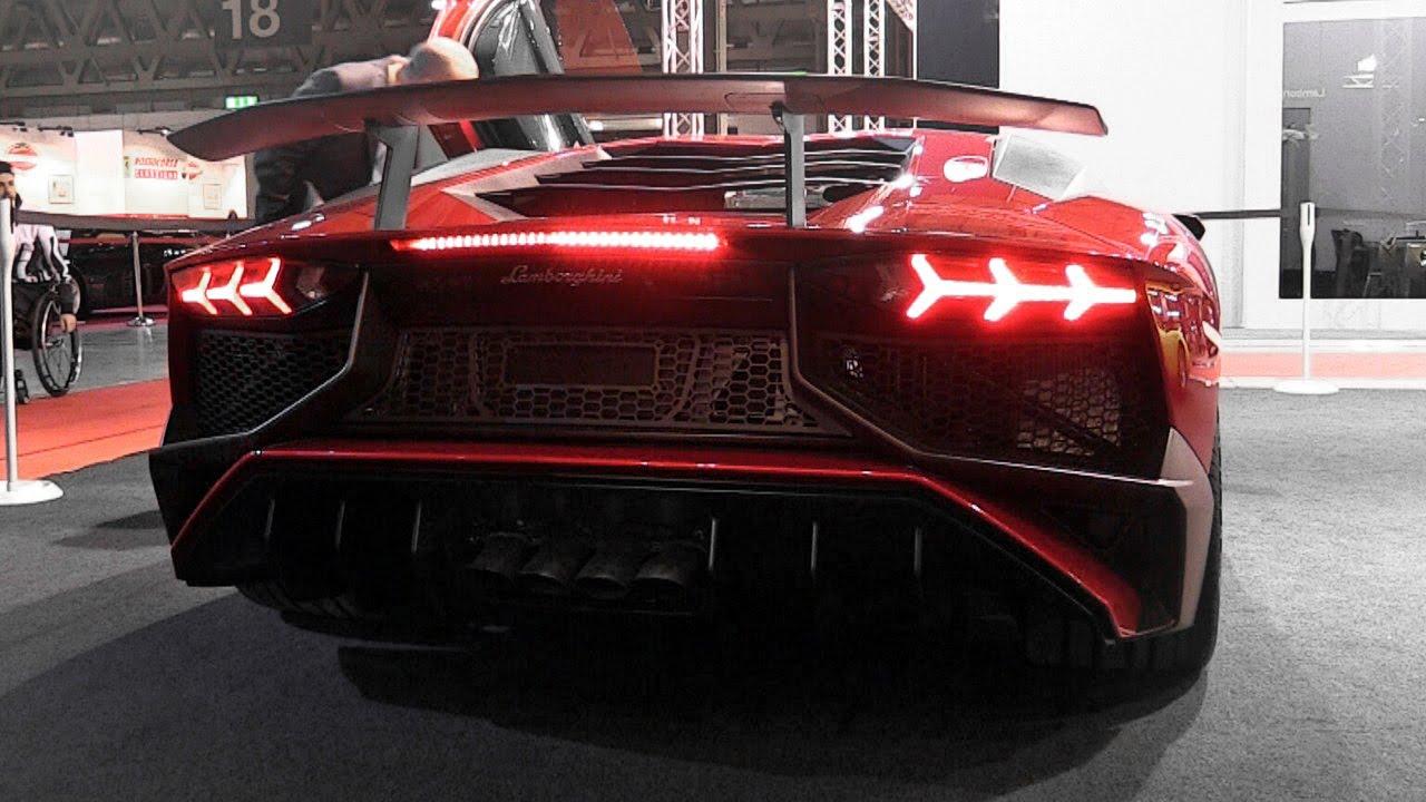 Lamborghini Aventador Sv Exhaust Sound Youtube