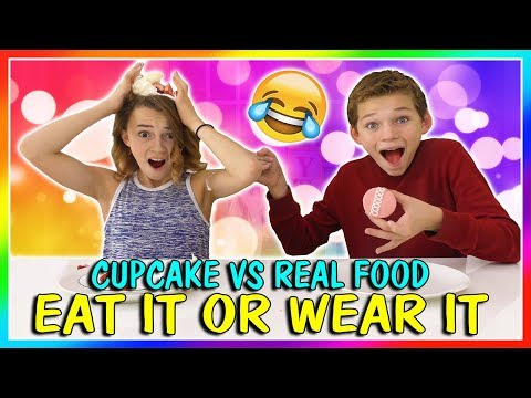 CUPCAKE VS REAL FOOD SWITCH UP | We Are The Davises