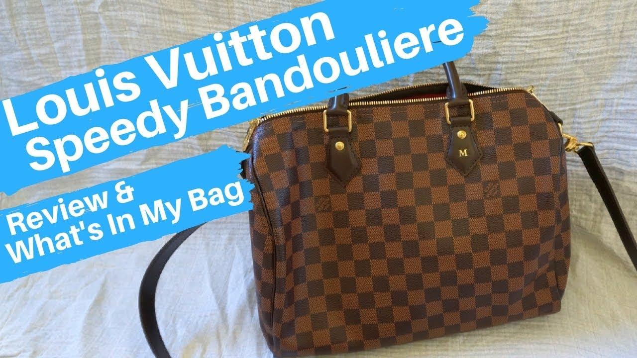 40374d637791 Louis Vuitton Speedy Bandouliere Damier Ebene ~ Review and Contents ...