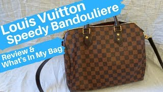 Louis Vuitton Speedy Bandouliere Damier Ebene ~ Review and Contents