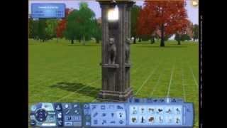 Sims 3 Урок Готический светильник