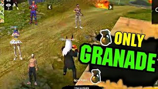ONLY GRENADE CHALLENGE MATCH    SQUAD GAMEPLAY    LIVE REACTION 😮    MUST MATCH