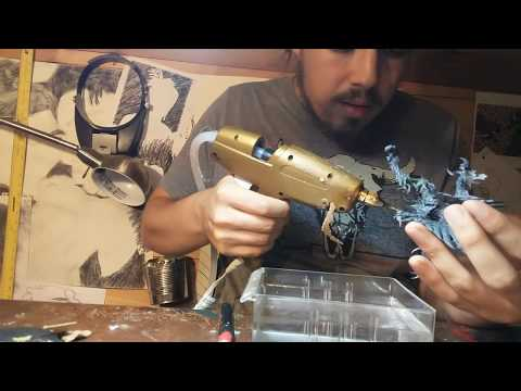 How to Sculpt Fire w/Hot Glue -- Count ZAZZula's Crypt of W.I.P. #1