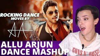 ALLU ARJUN BEST DANCE MOVES MASHUP | REACTION!!! | Indi Rossi