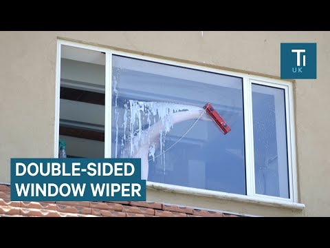 Window Cleaner Uses Magnets To Clean Both Sides Of A Window