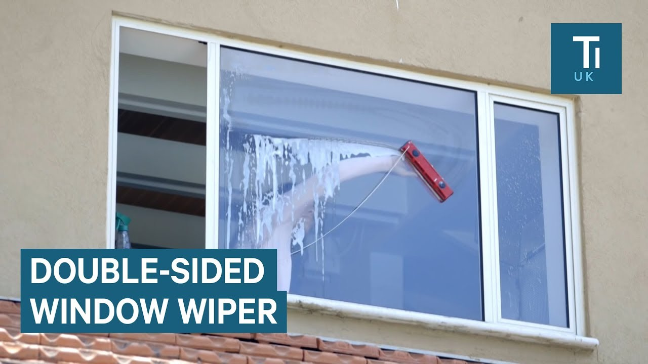 window cleaner uses magnets to clean both sides of a