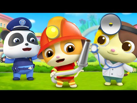 Jobs And Career Song | Firefighter Song, Police Cartoon | BabyBus Nursery Rhymes & Kids Songs