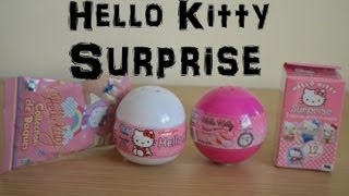 Kitty-chan Hello Kitty Kitty White Surprise Gacha Balls Toy Box Surprise Pack Haul (hd)