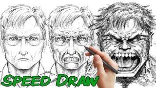 Speed Draw - Banner to HULK with Manga Studio (Clip Studio Paint)