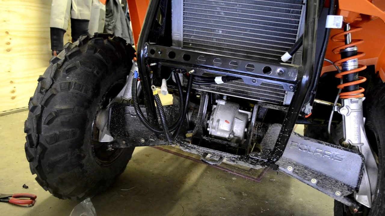 Part 1 How to install a winch on a 2012 polaris sportsman 500 ho  YouTube