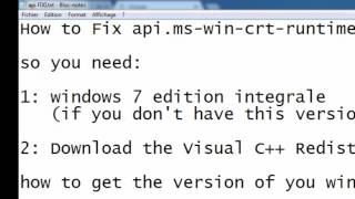 how to fix all  api-ms-win-crt-runtime-l1-1-0.dll [No fake]