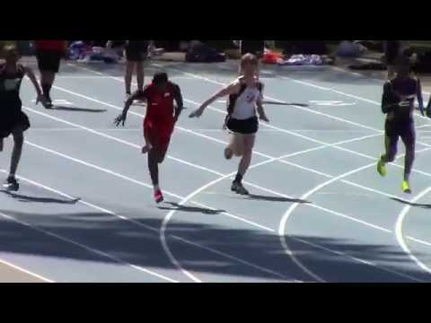 Icahn Stadium 2015 13 & 14 boys 100m Adrian Taffe