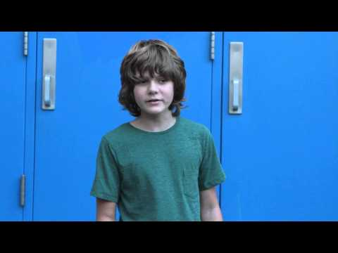 Ty Simpkins takes the Ice Bucket Challenge