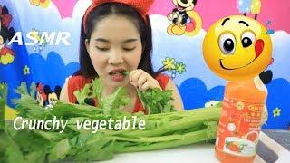 ASMR Crunchy vegetable salad real*Eating sound *mukbang