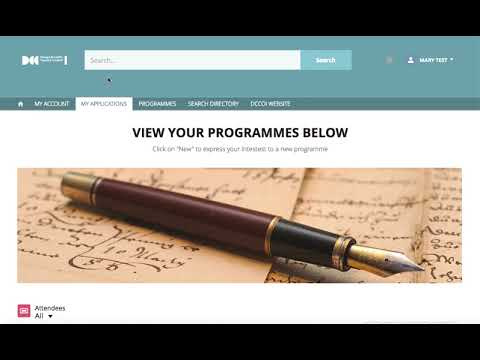 DCCoI Communities Page 'How To' Access and Apply for Programmes Video